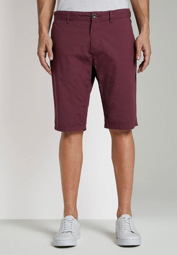 мужские повседневные шорты tom tailor, бордовые