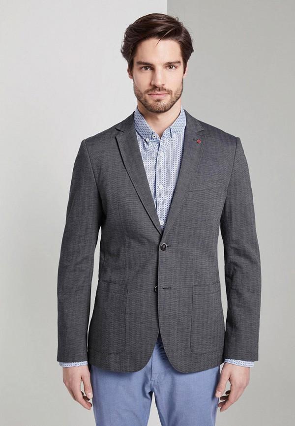 мужской пиджак tom tailor, серый
