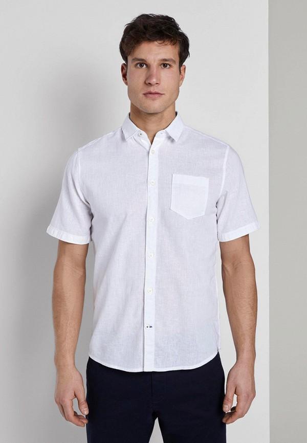 мужская рубашка с коротким рукавом tom tailor, белая