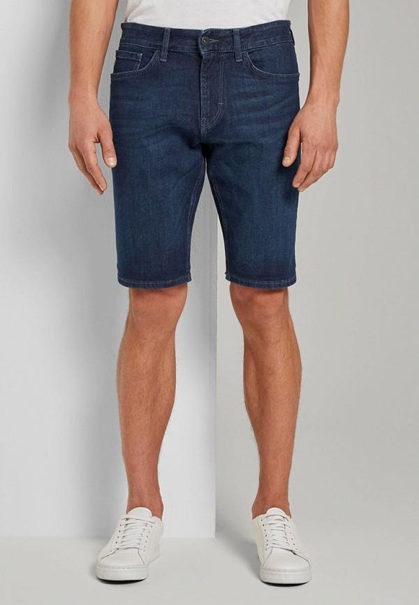 мужские джинсовые шорты tom tailor, синие