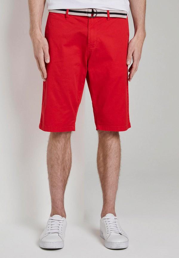мужские повседневные шорты tom tailor, красные