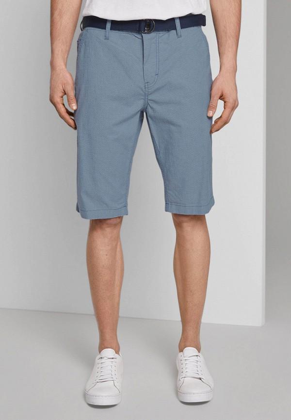 мужские повседневные шорты tom tailor, голубые