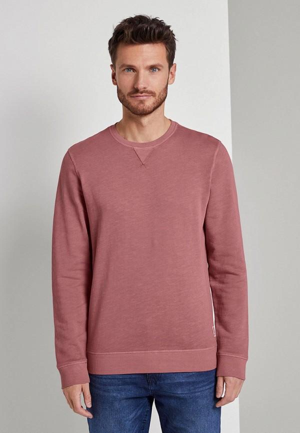 мужской свитшот tom tailor, розовый
