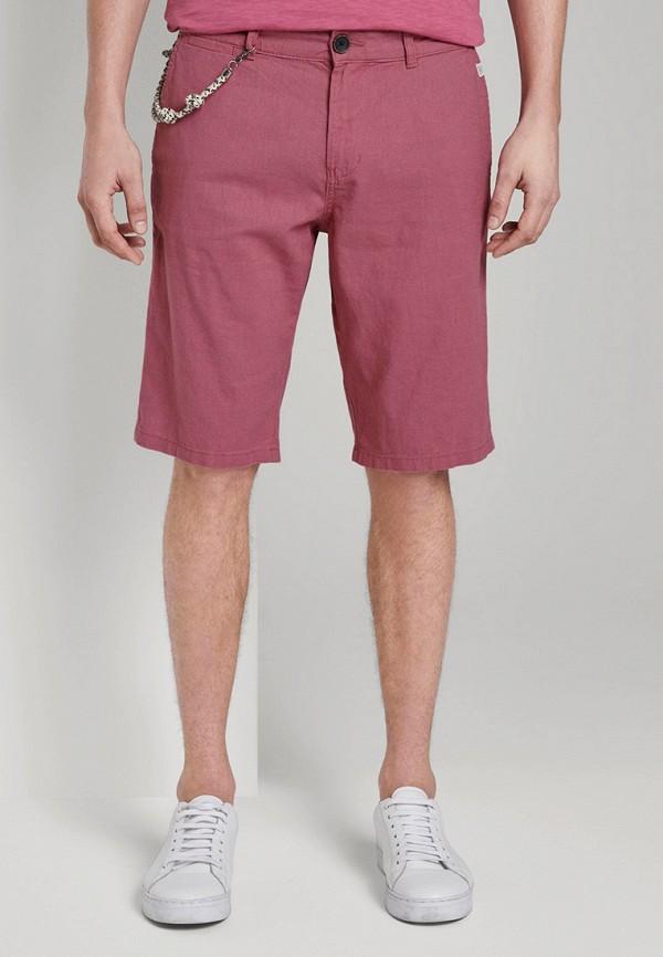 мужские повседневные шорты tom tailor, розовые