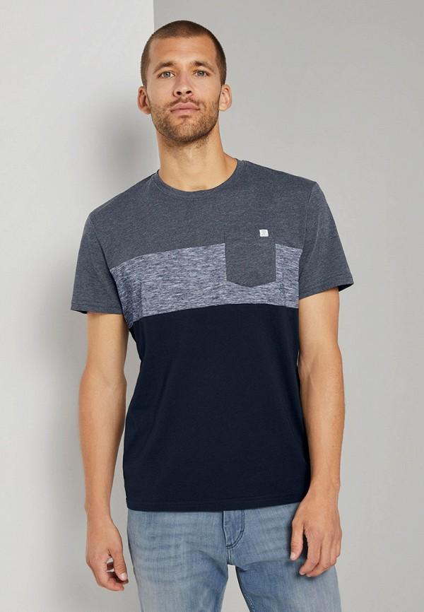 мужская футболка с коротким рукавом tom tailor, синяя