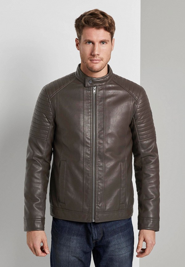 мужская куртка tom tailor, коричневая