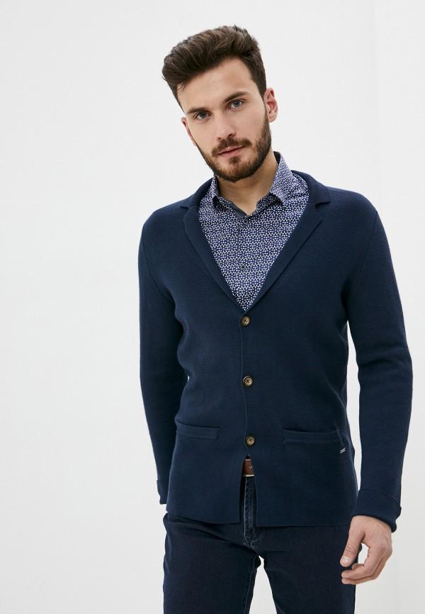 мужской кардиган tom tailor, синий