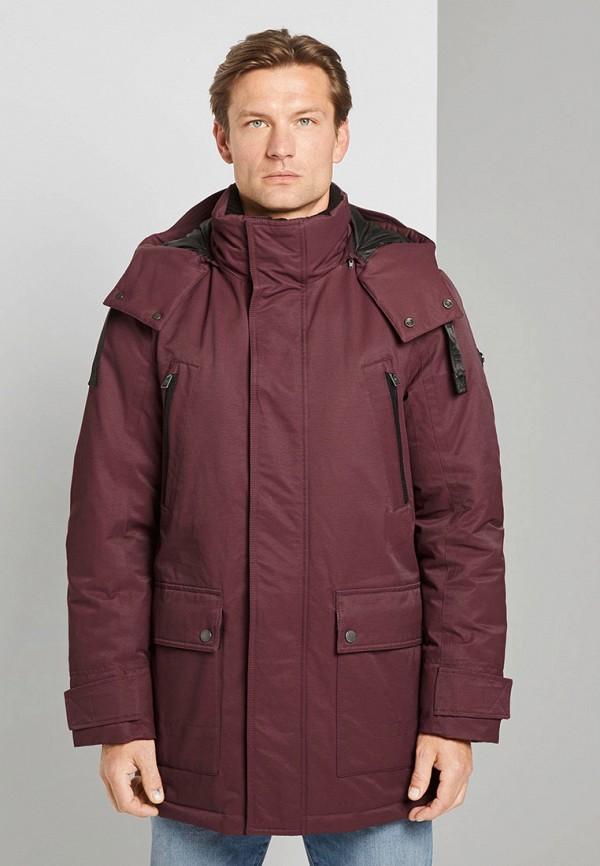 мужская куртка tom tailor, бордовая