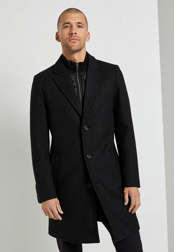 мужское пальто tom tailor, черное