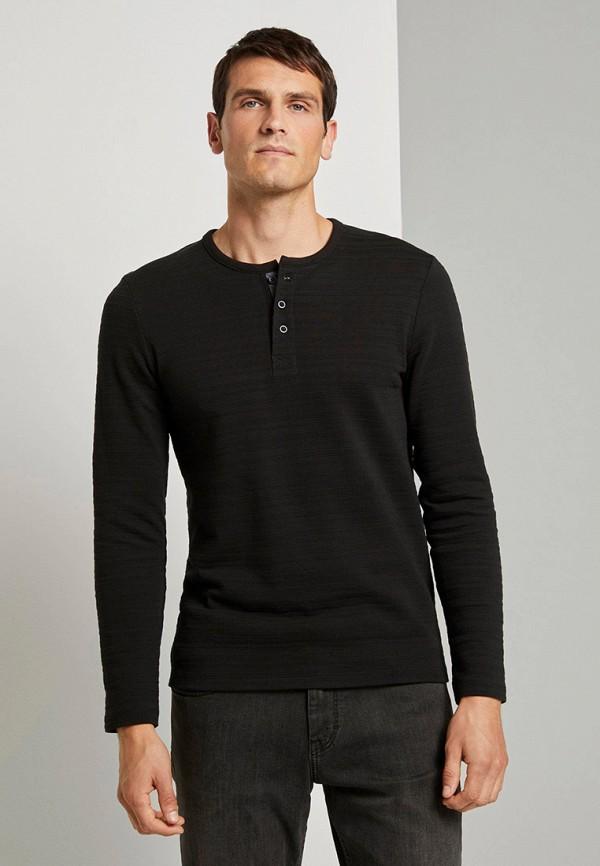 мужское поло tom tailor, черное