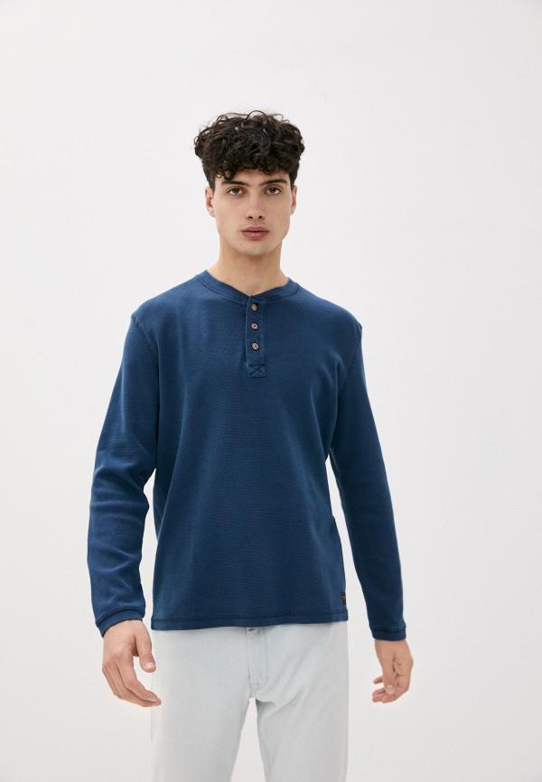 мужской лонгслив tom tailor, синий