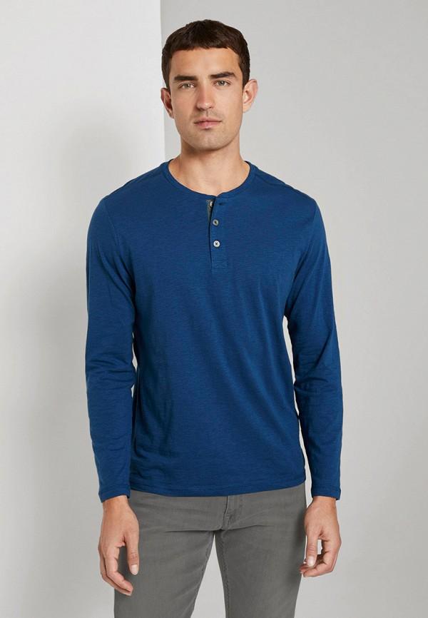 мужское поло tom tailor, синее