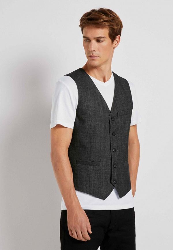 мужской жилет tom tailor, серый