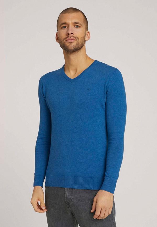 мужской пуловер tom tailor, синий
