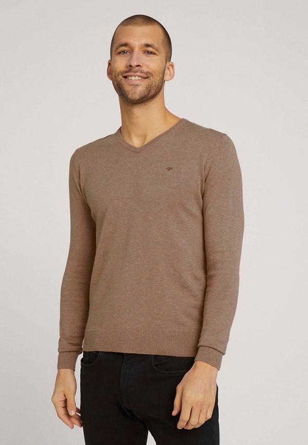 мужской пуловер tom tailor, коричневый