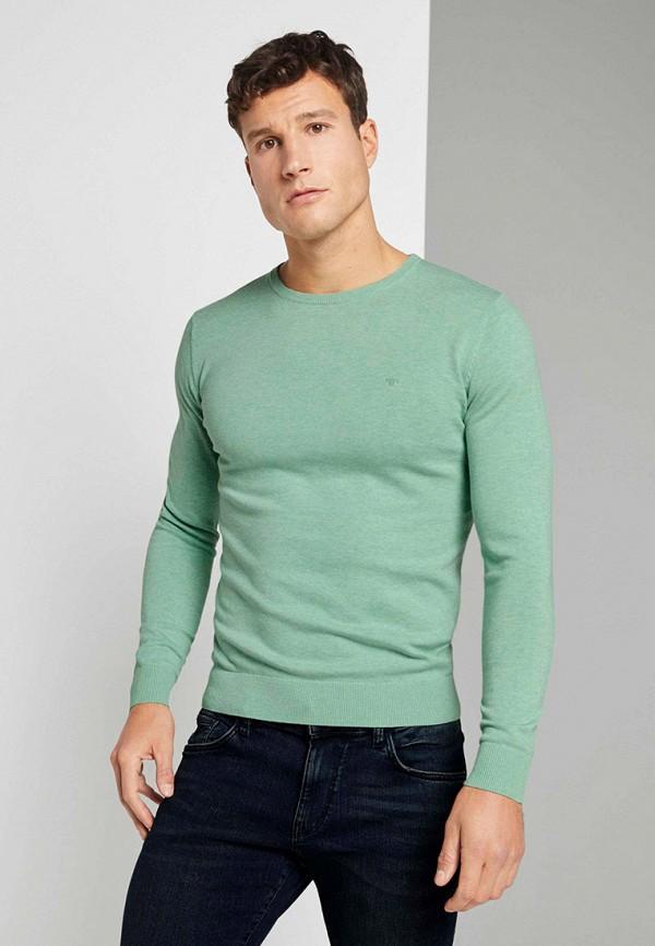 мужской джемпер tom tailor, бирюзовый
