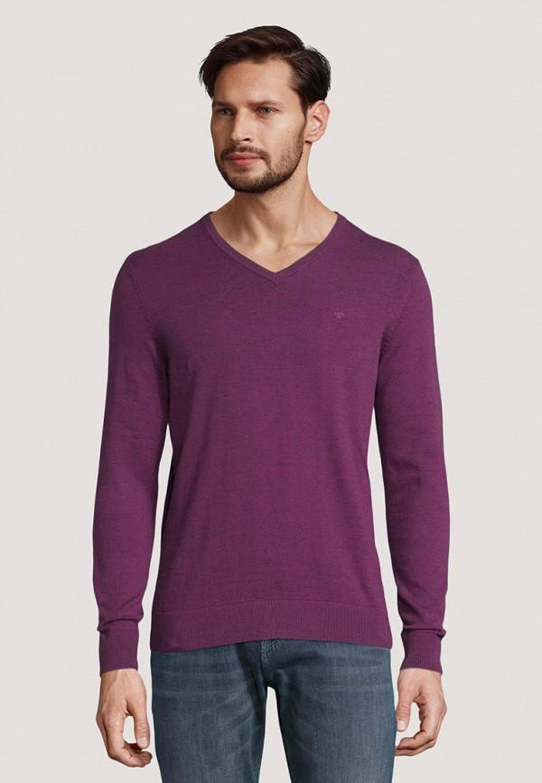 мужской пуловер tom tailor, фиолетовый