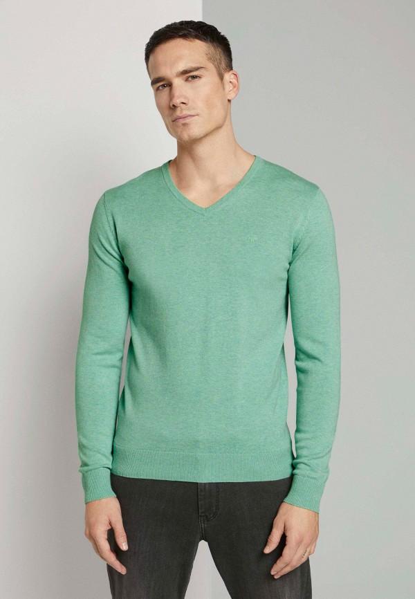 мужской пуловер tom tailor, бирюзовый