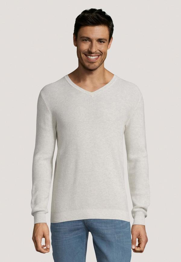 мужской пуловер tom tailor, серый