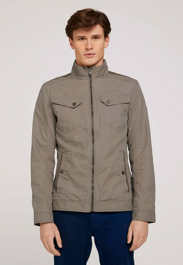 мужская куртка tom tailor, бежевая