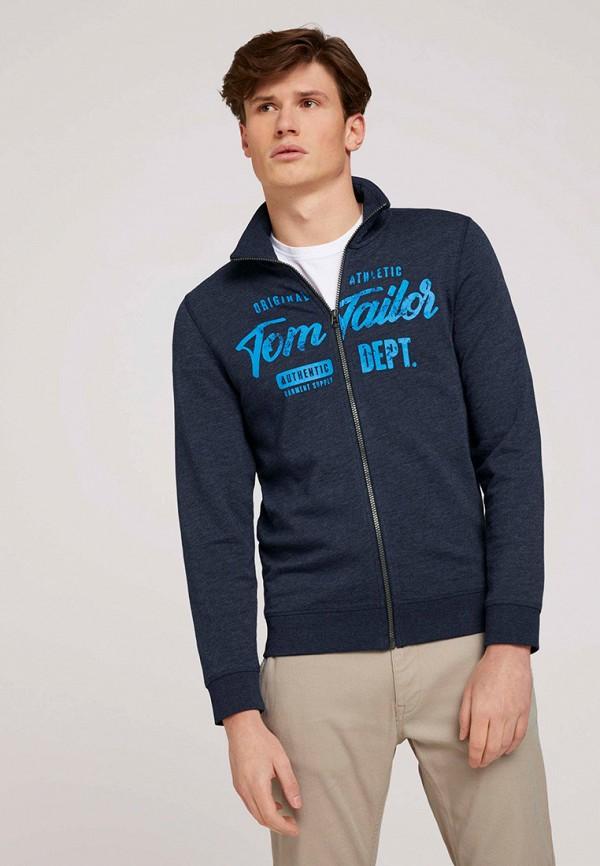 мужская олимпийка tom tailor, синяя