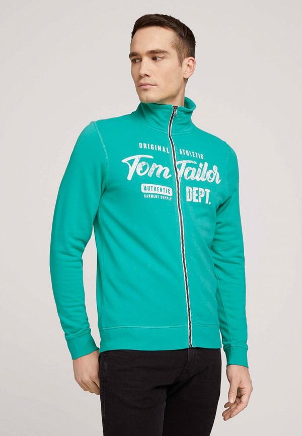 мужская олимпийка tom tailor, бирюзовая