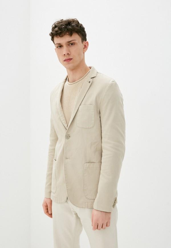 мужской пиджак tom tailor, бежевый