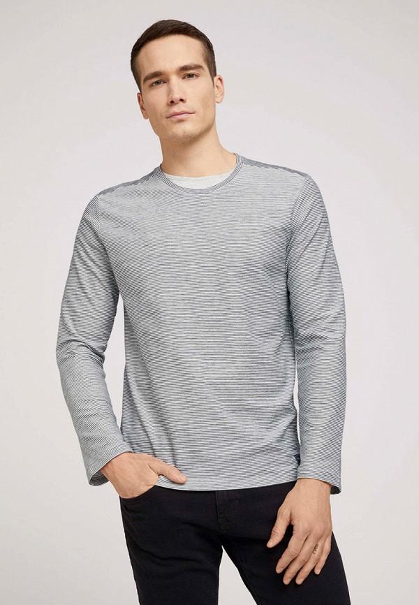 мужской лонгслив tom tailor, серый