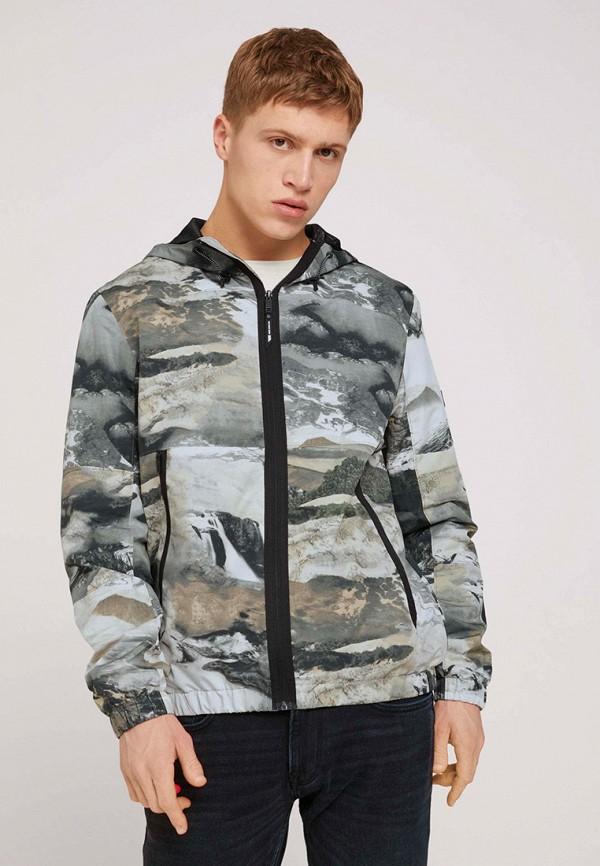 мужская куртка tom tailor, разноцветная