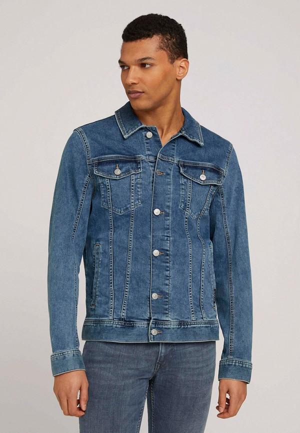 мужская джинсовые куртка tom tailor, синяя