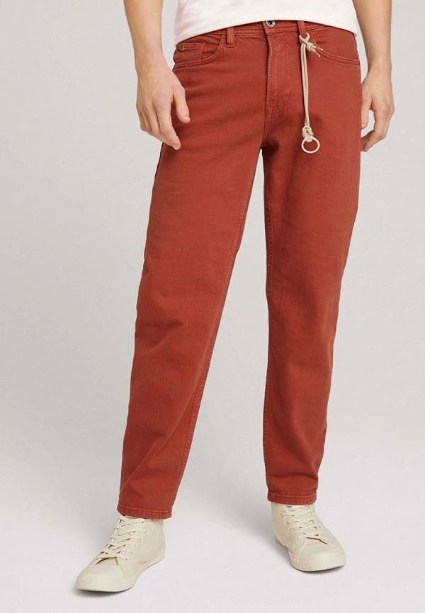 мужские повседневные брюки tom tailor, красные
