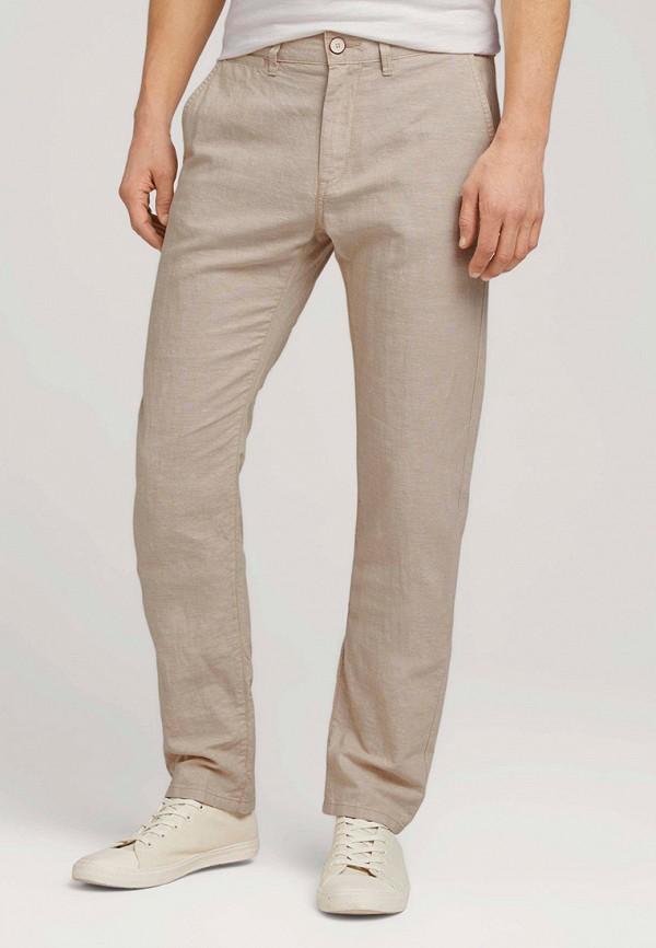 мужские брюки чинос tom tailor, бежевые