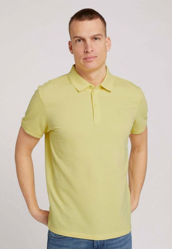 мужское поло tom tailor, желтое