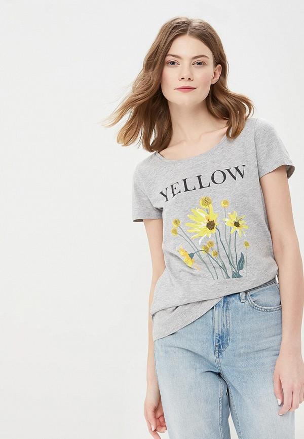 Купить женскую футболку Tom Tailor серого цвета