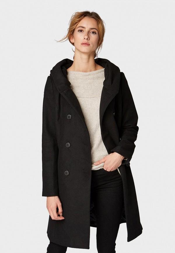 женское пальто tom tailor, черное