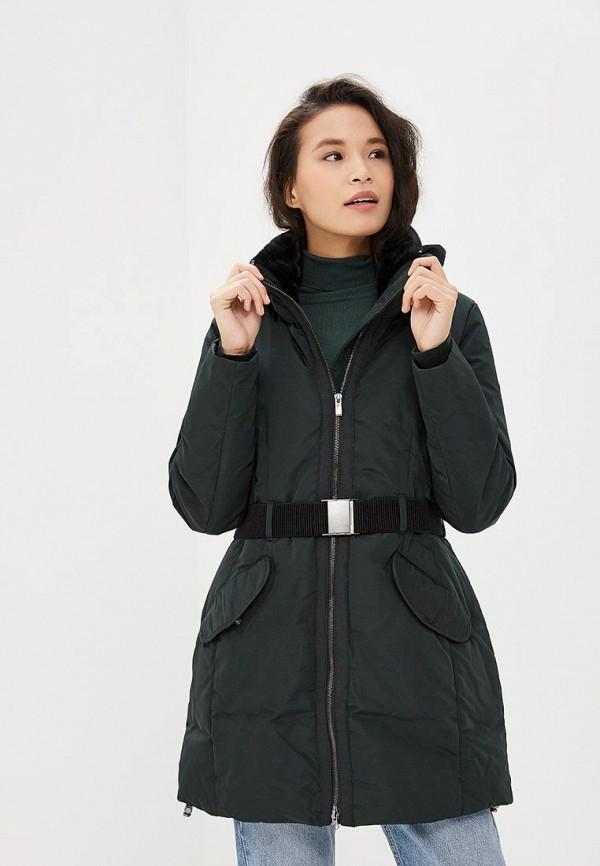 женская куртка tom tailor, зеленая