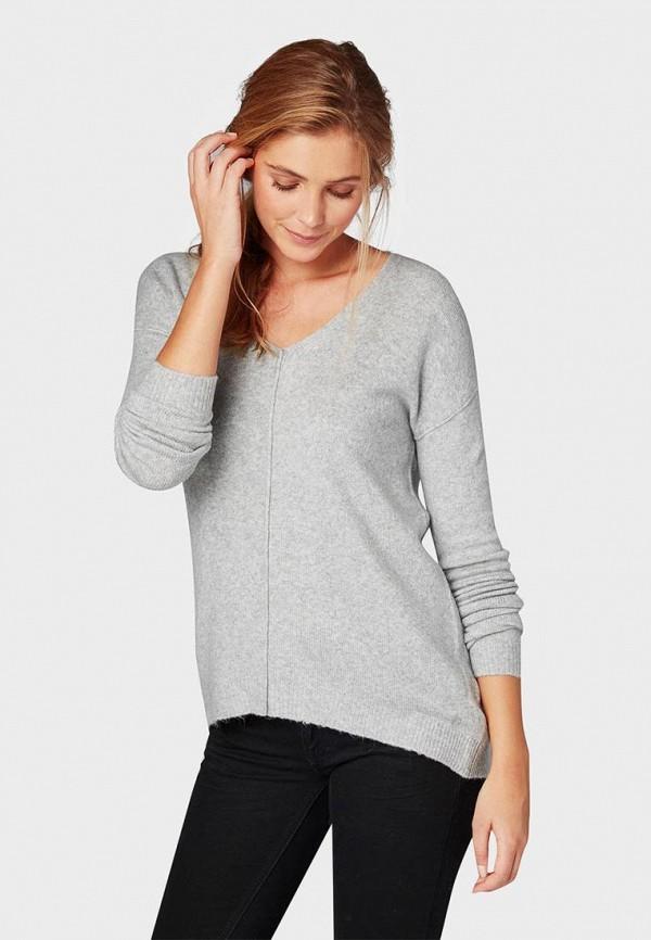 женский пуловер tom tailor, серый