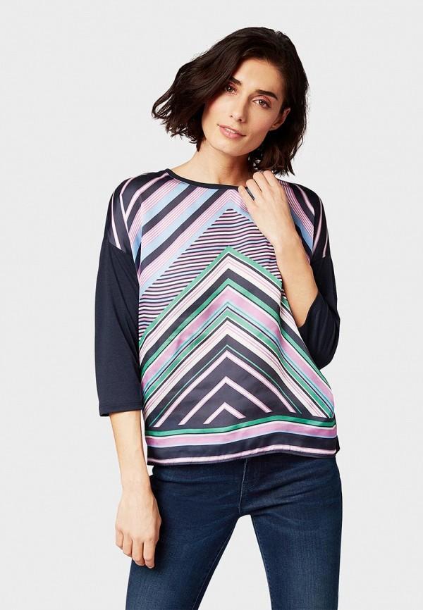 женская блузка tom tailor, разноцветная