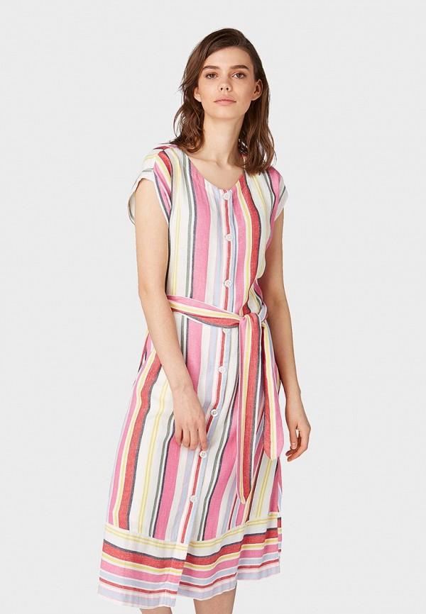 женское платье tom tailor, разноцветное