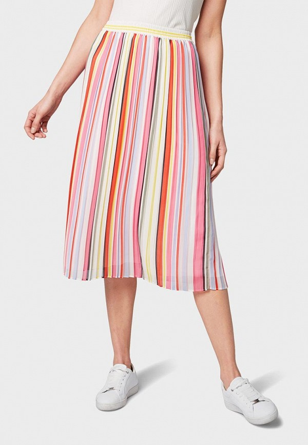 женская юбка tom tailor, разноцветная