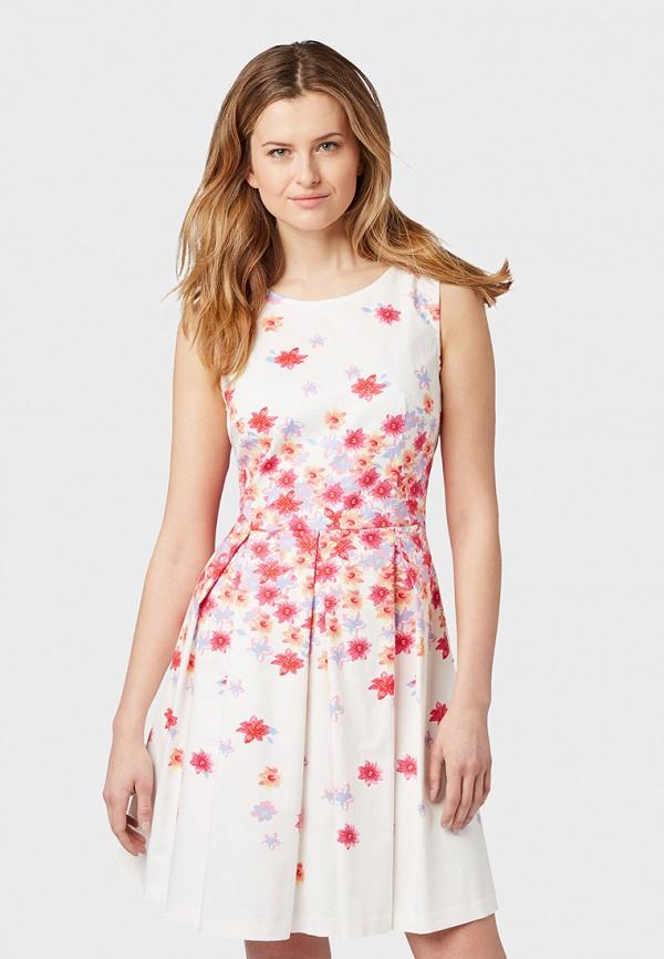 женское повседневные платье tom tailor, белое