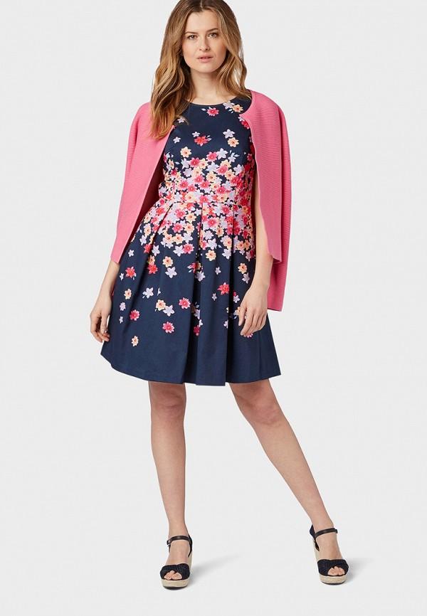 Фото 2 - женское платье Tom Tailor синего цвета