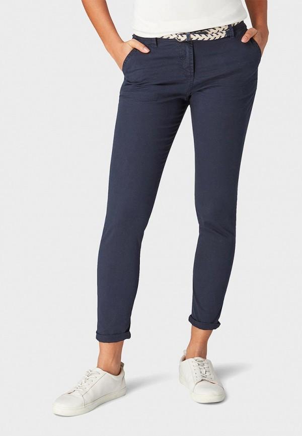 женские спортивные брюки tom tailor, синие