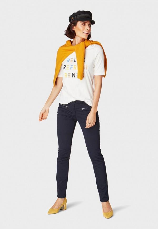 Фото 2 - женскую футболку Tom Tailor белого цвета