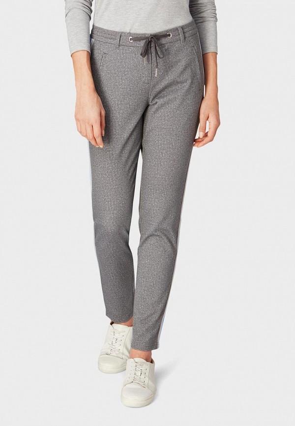 женские повседневные спортивные брюки tom tailor, серые