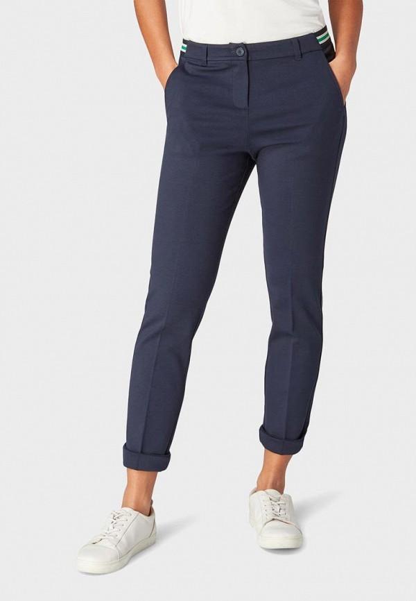 женские повседневные брюки tom tailor, синие