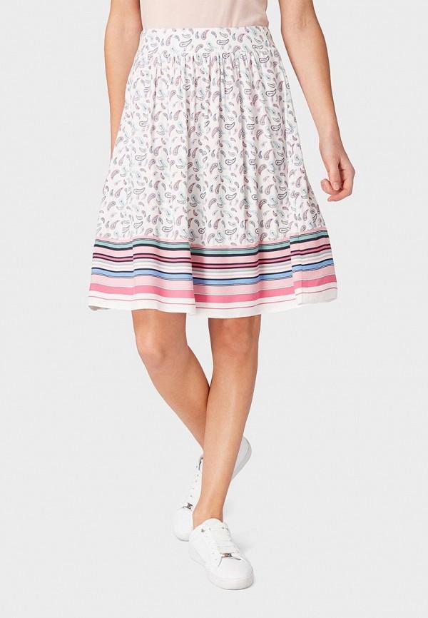 женская юбка tom tailor, белая