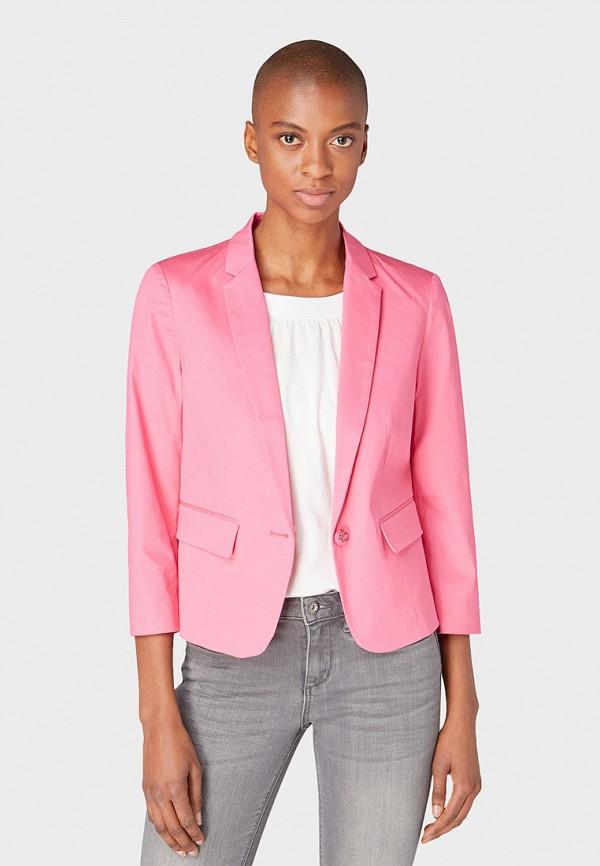 женский пиджак tom tailor, розовый