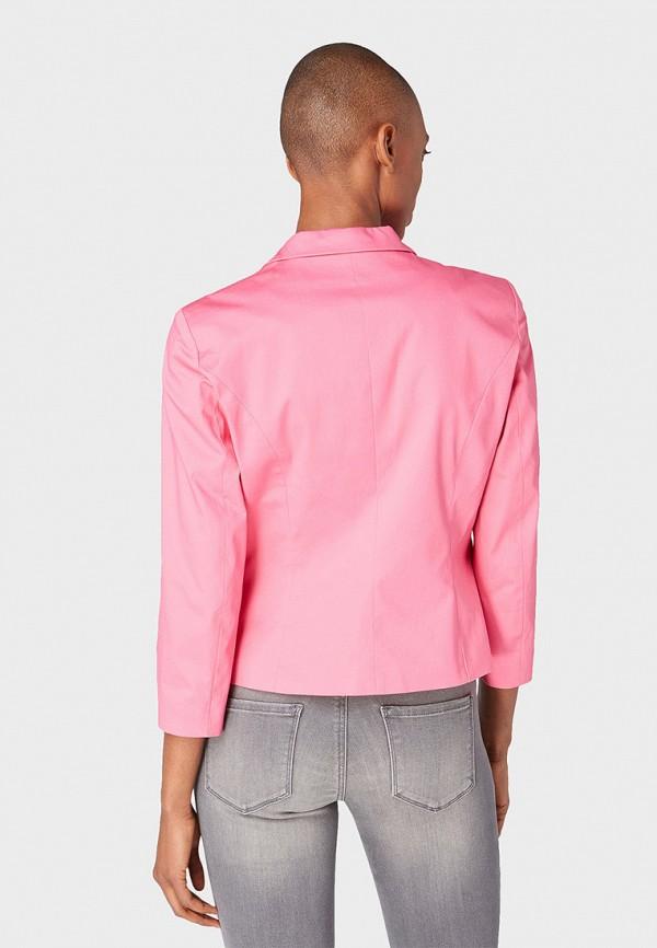Фото 3 - женский пиджак Tom Tailor розового цвета