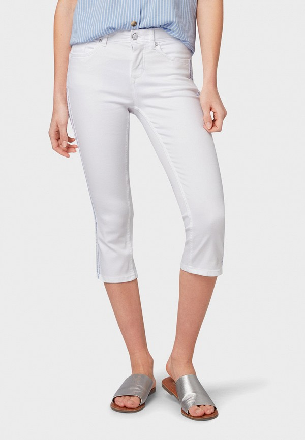женские брюки tom tailor, белые